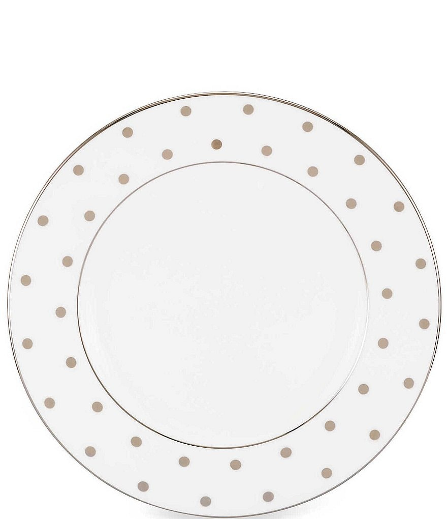 kate spade new york Larabee Road Dotted Platinum Bone China Salad Plate
