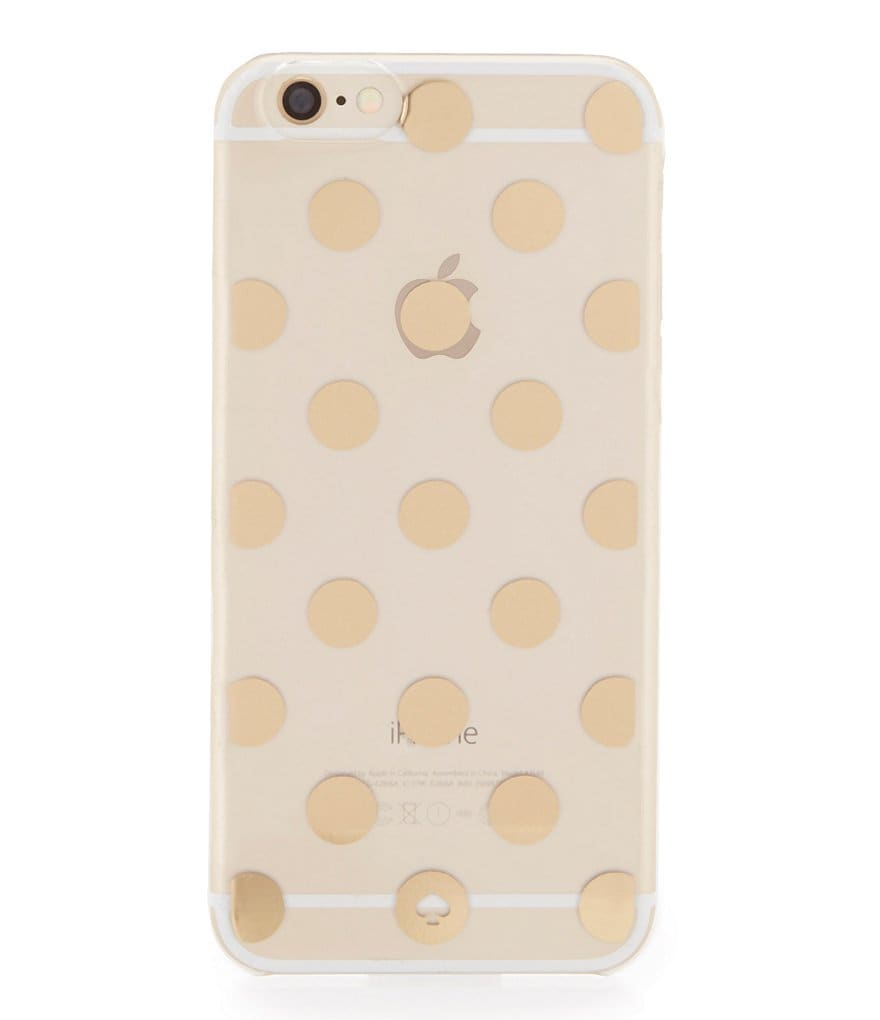 kate spade new york Le Pavillion Clear Printed Dots iPhone 6 and 6s Case