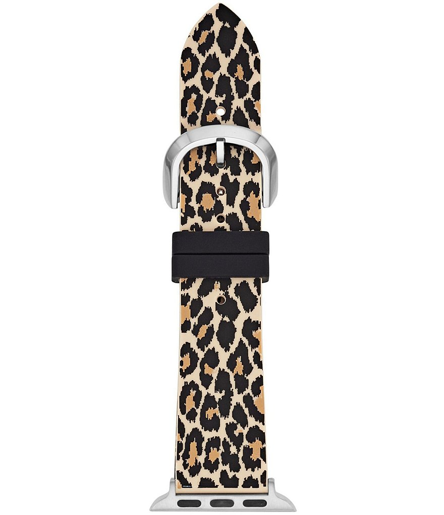 kate spade new york Leopard Silicone Apple Watch Strap