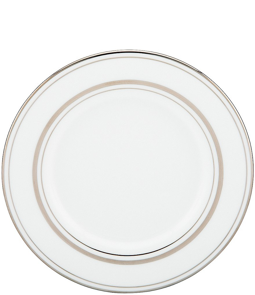 kate spade new york Library Lane Platinum Saucer