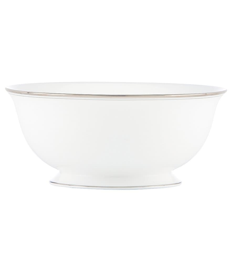 kate spade new york Library Lane Platinum Serving Bowl