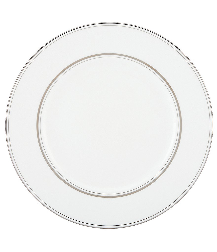 kate spade new york Library Lane Platinum-Striped Dinner Plate