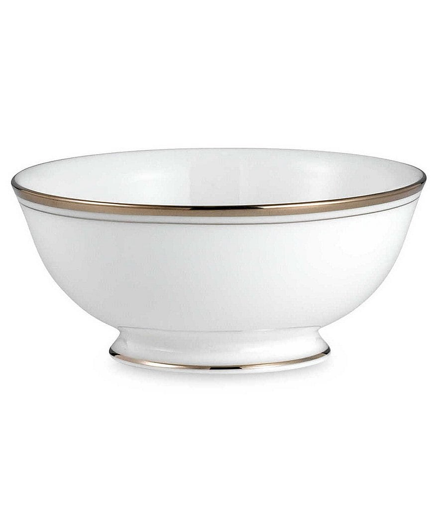 kate spade new york Library Lane Platinum-Striped Fruit Bowl