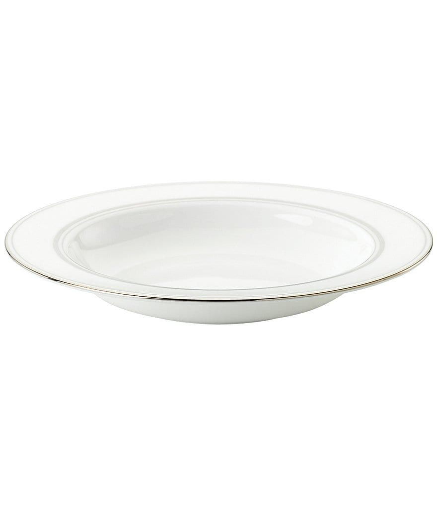 kate spade new york Library Lane Platinum-Striped Pasta/Soup Bowl