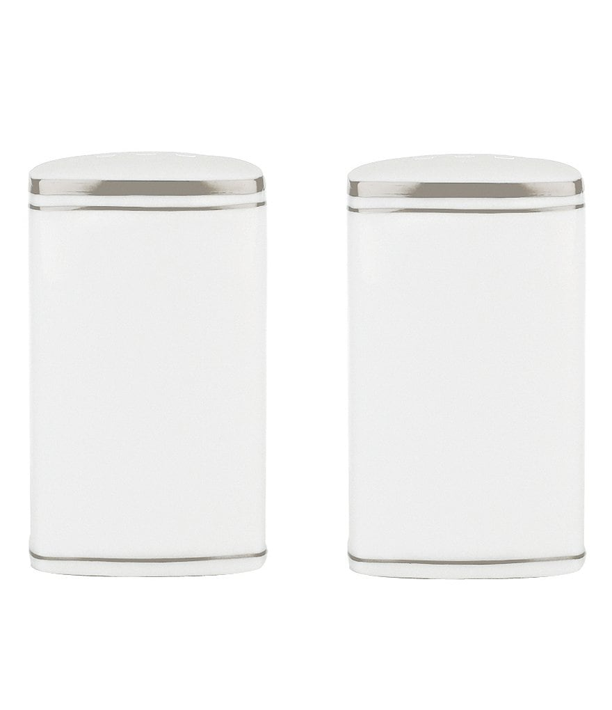 kate spade new york Library Lane Platinum-Striped Salt & Pepper Shaker Set