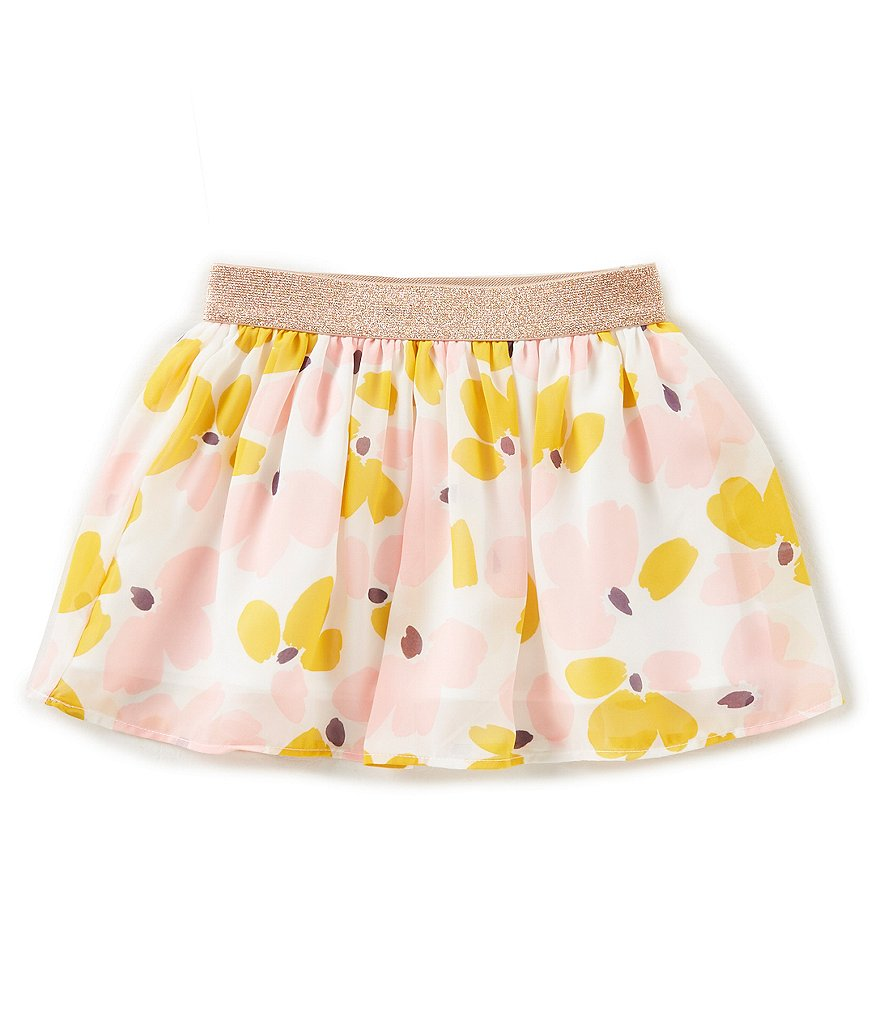 kate spade new york Little Girls 2-6 Floral Chiffon Skirt