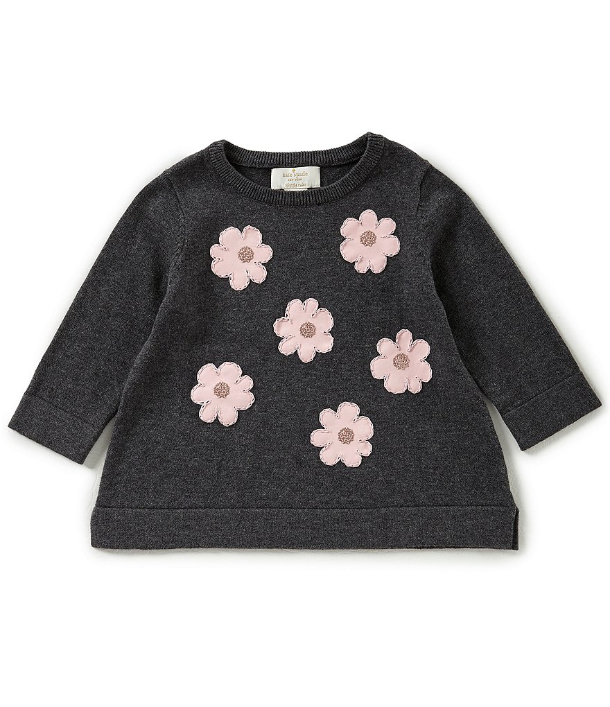 kate spade new york Little Girls 2-6 Floral-Embroidered Sweater