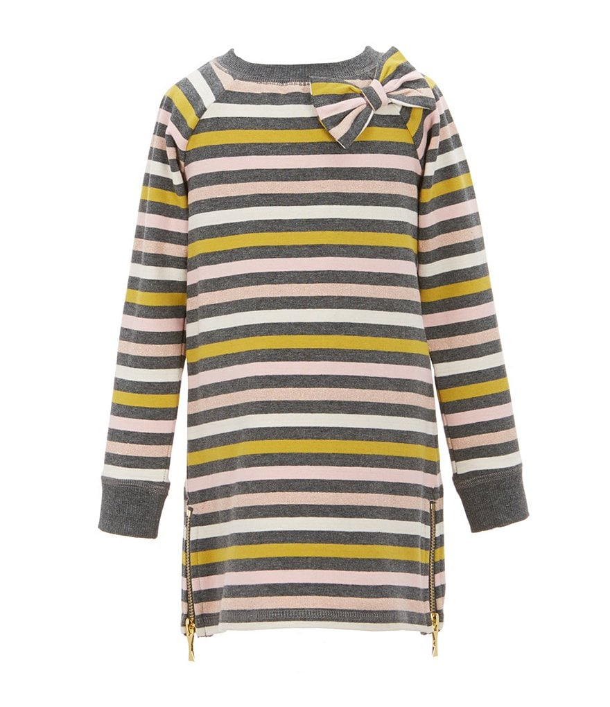 kate spade new york Little Girls 2-6 Metallic Striped Dress