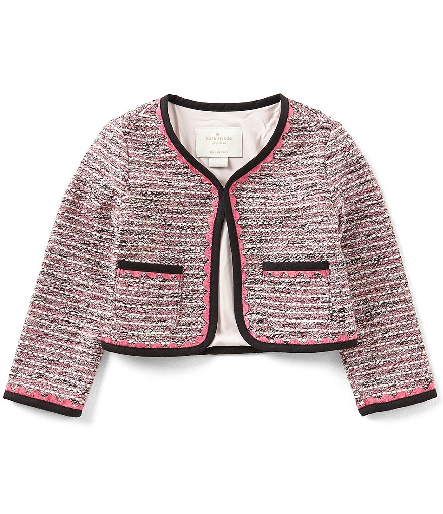 kate spade new york Little Girls 2-6 Tweed Pocket Jacket