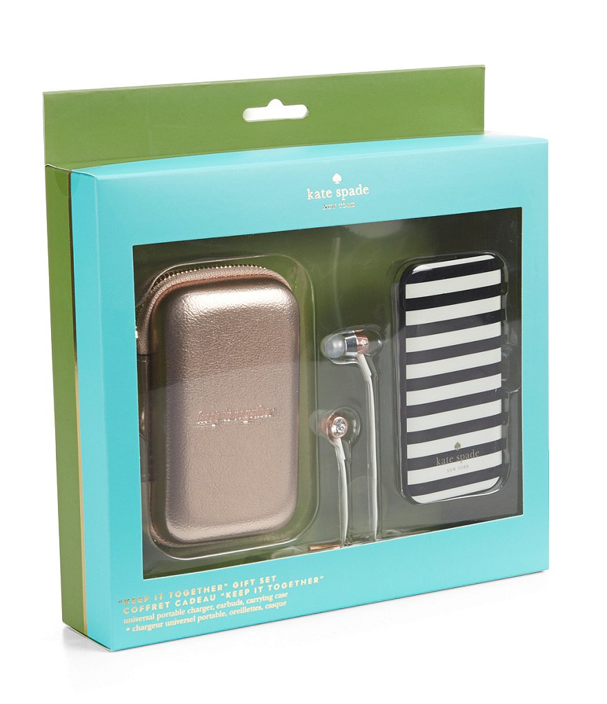 kate spade new york Metallic Tech Accessories Gift Set