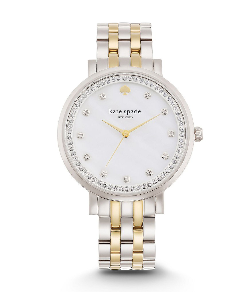 kate spade new york Monterey 3-Hand Two-Tone Stainless Steel Glitz Watch