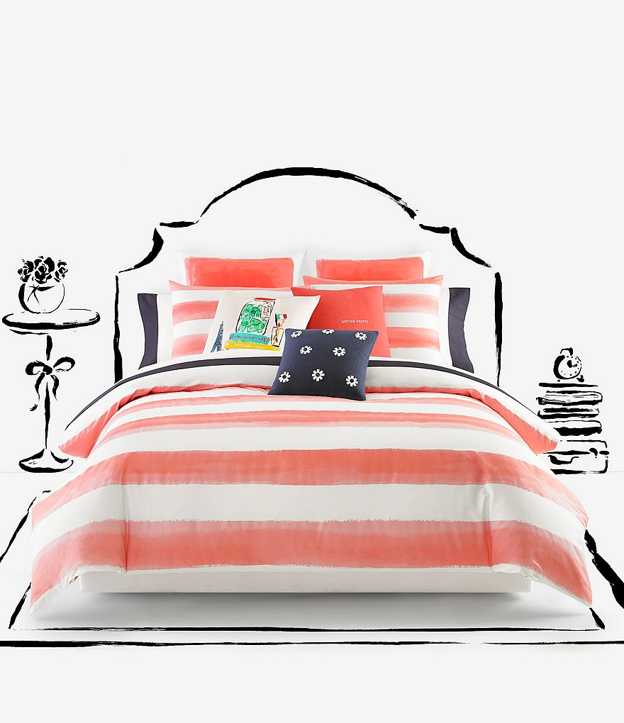 kate spade new york Painted Rugby-Striped Twill Comforter Mini Set
