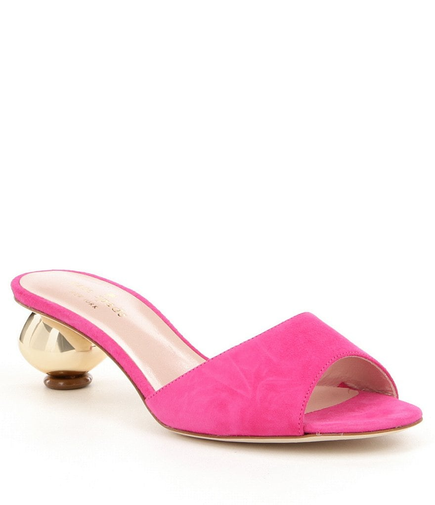 kate spade new york Paisley Suede Slip-On Ball Heel Dress Sandals