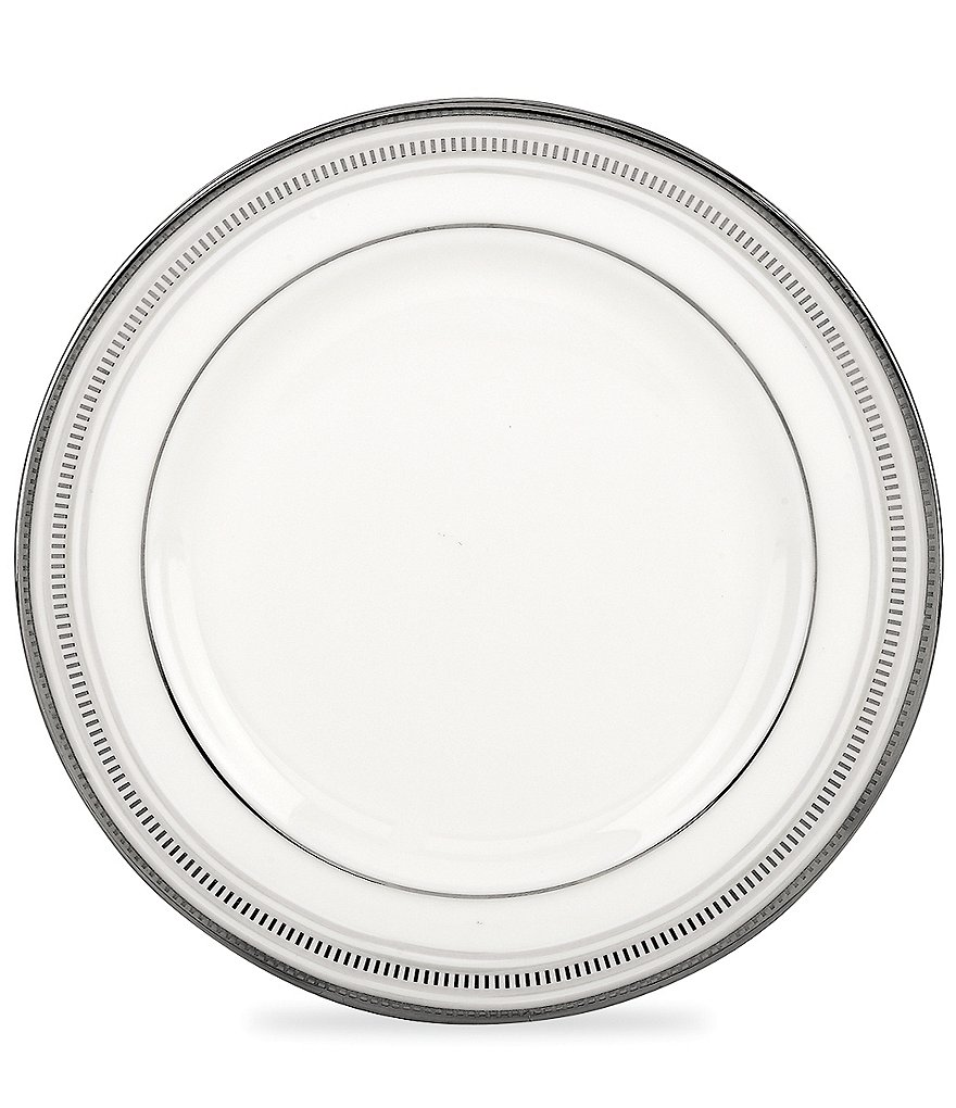 kate spade new york Palmetto Bay Striped Platinum Bone China Bread & Butter Plate