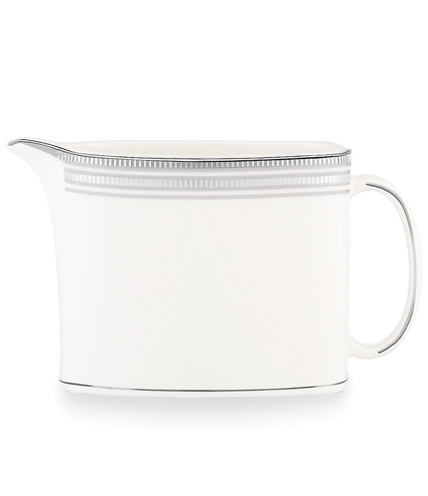 kate spade new york Palmetto Bay Striped Platinum Bone China Creamer