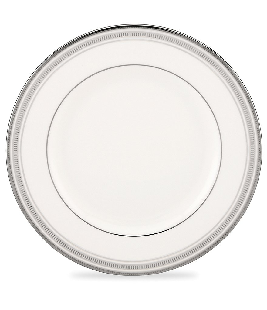 kate spade new york Palmetto Bay Striped Platinum Bone China Dinner Plate