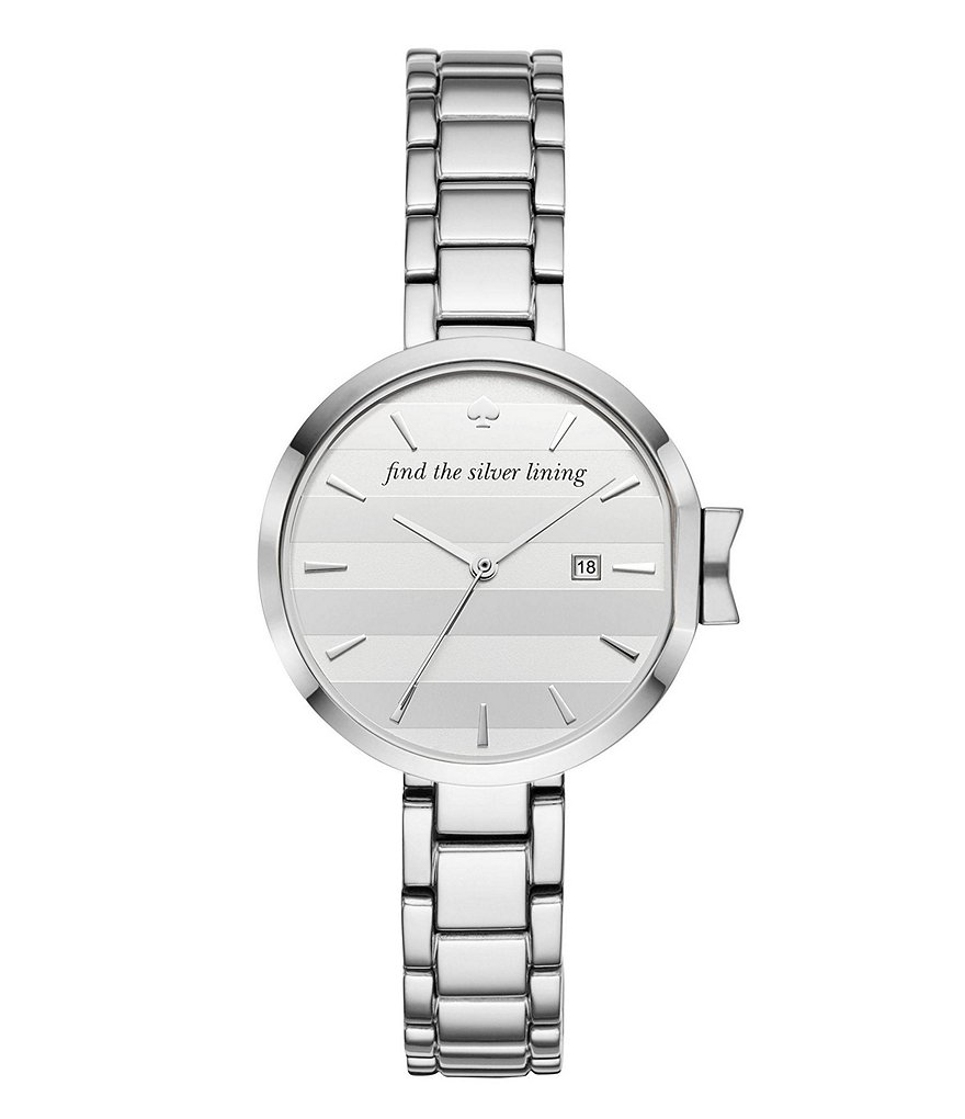 kate spade new york Park Row Stainless Steel Bracelet Watch