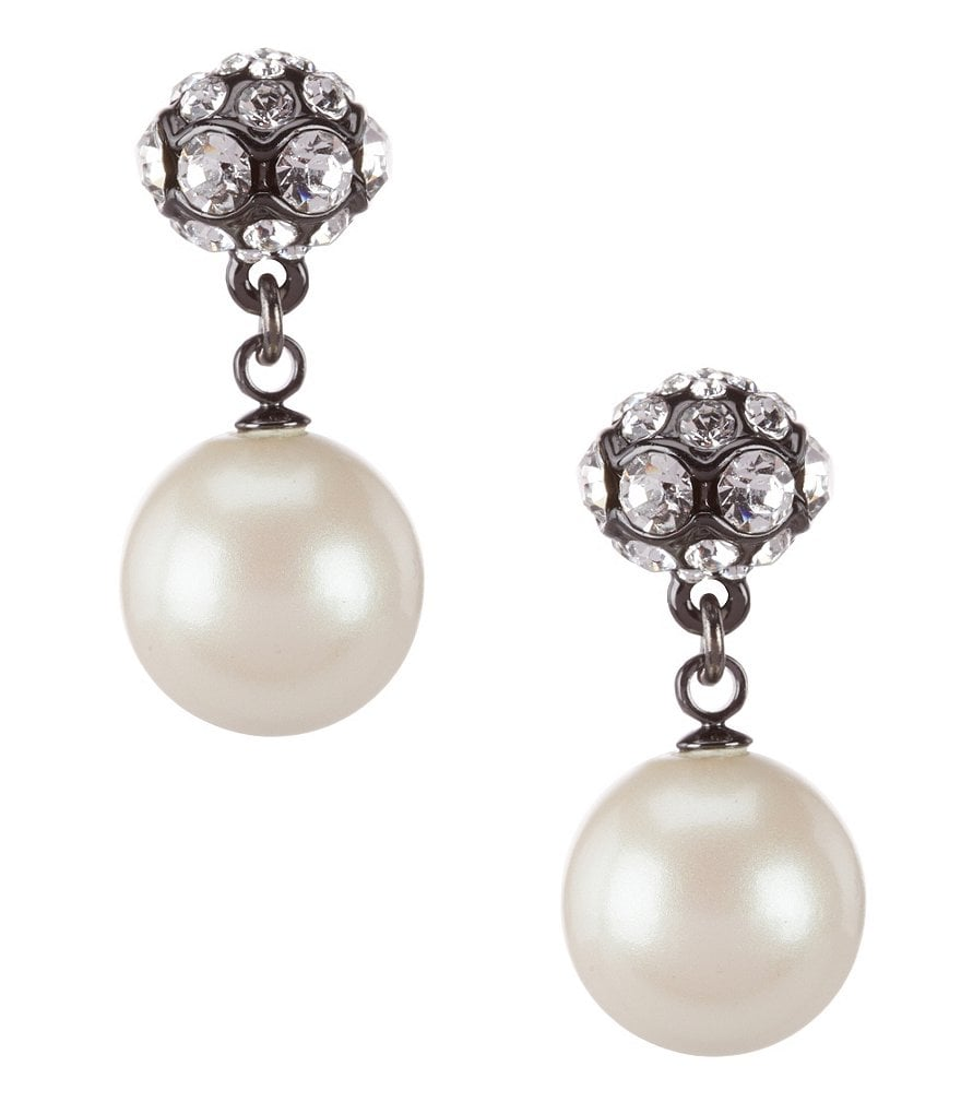 kate spade new york Party Pearls Double-Drop Earrings