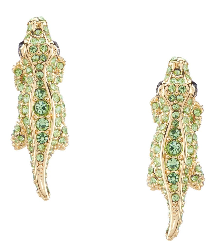 kate spade new york Pavé Alligator Stud Earring