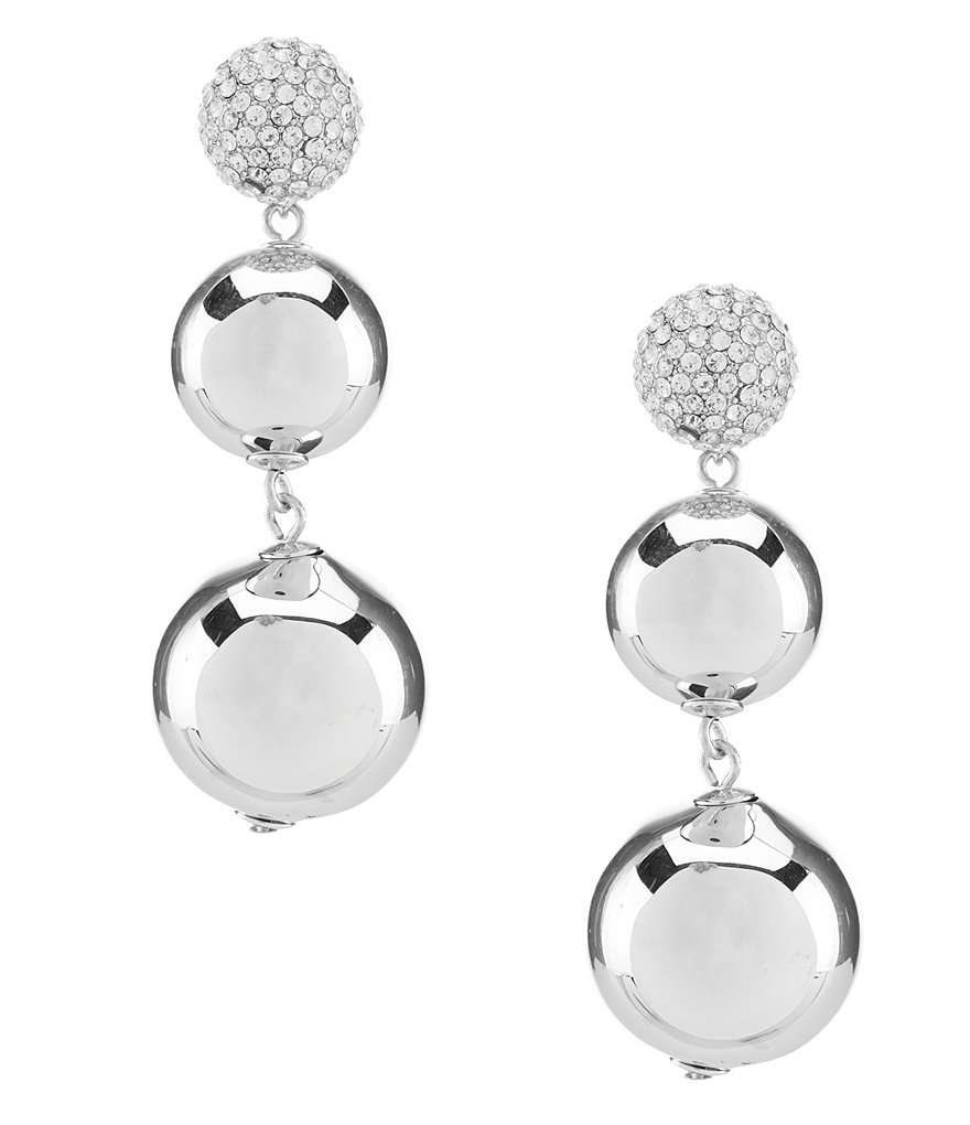 kate spade new york Pavé Bauble Statement Earrings