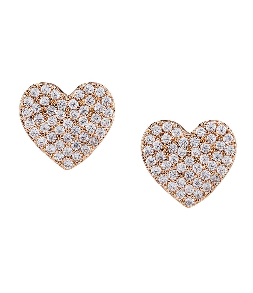 kate spade new york Pavé Heart Stud Earrings