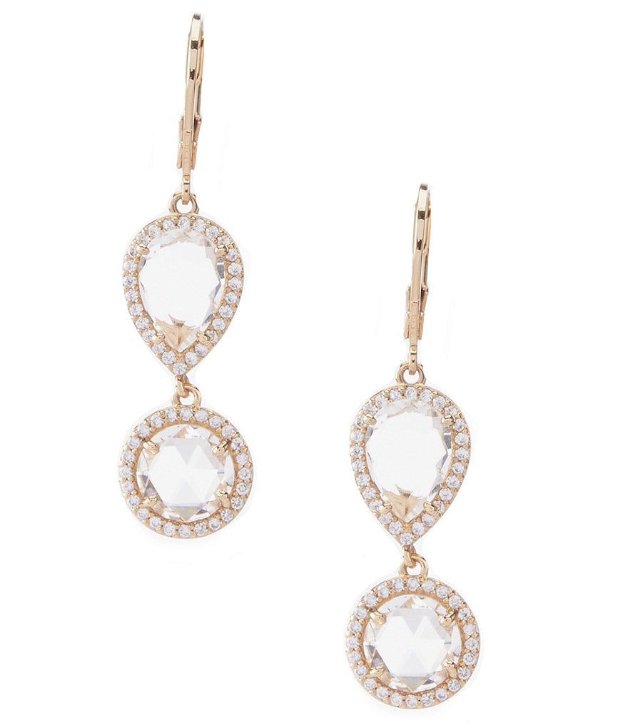 kate spade new york Pave Halo Drop Earrings