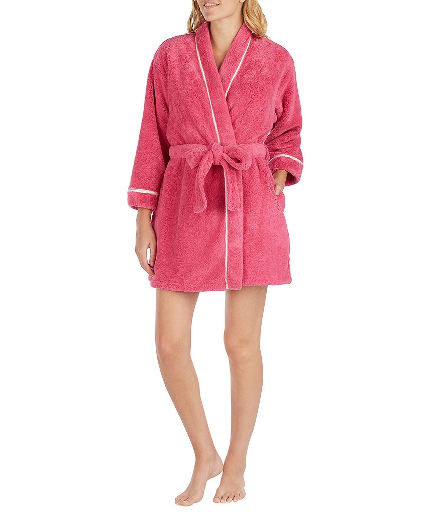 kate spade new york Recycled Plush Wrap Robe