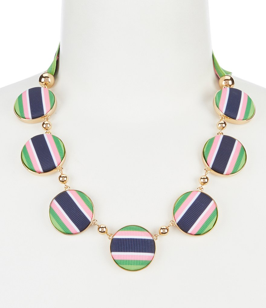kate spade new york Stripe Circle Statement Necklace