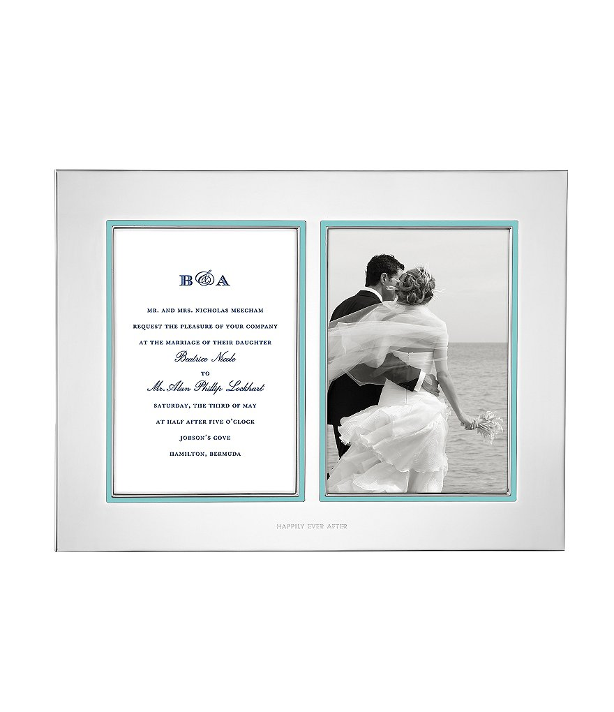 kate spade new york take the cake double wedding invitation frame - Kate Spade Wedding Invitations
