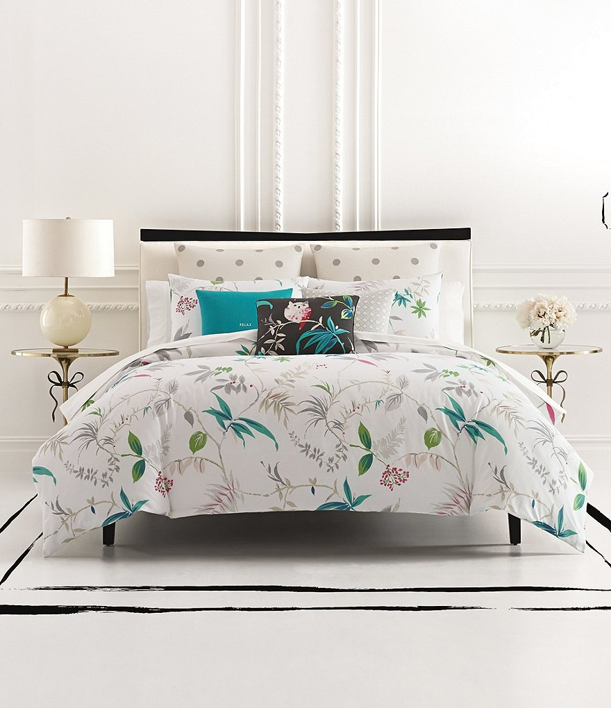 kate spade new york Trellis Blooms Floral Cotton Twill Comforter ...