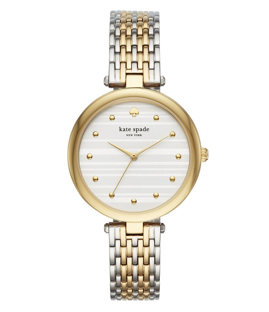 kate spade new york varick two tone bracelet watch