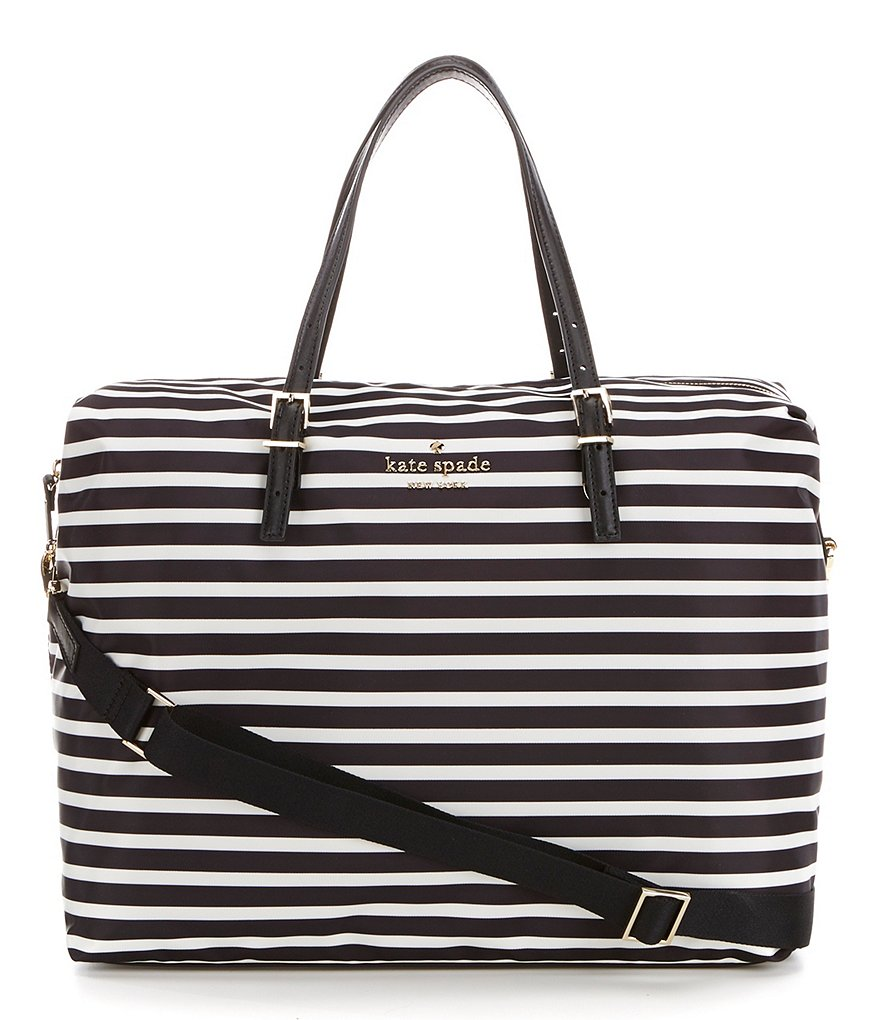 kate spade new york Watson Lane Collection Lyla Striped Weekender