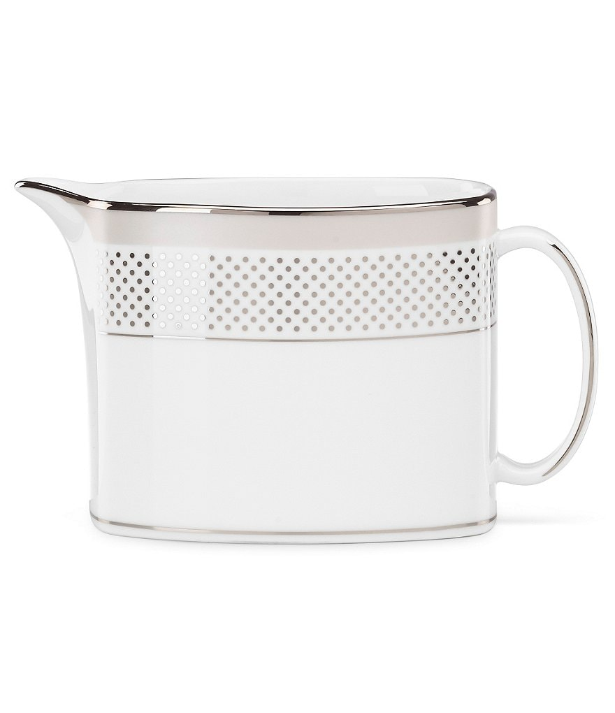 kate spade new york Whitaker Street Dotted & Striped Platinum Bone China Creamer