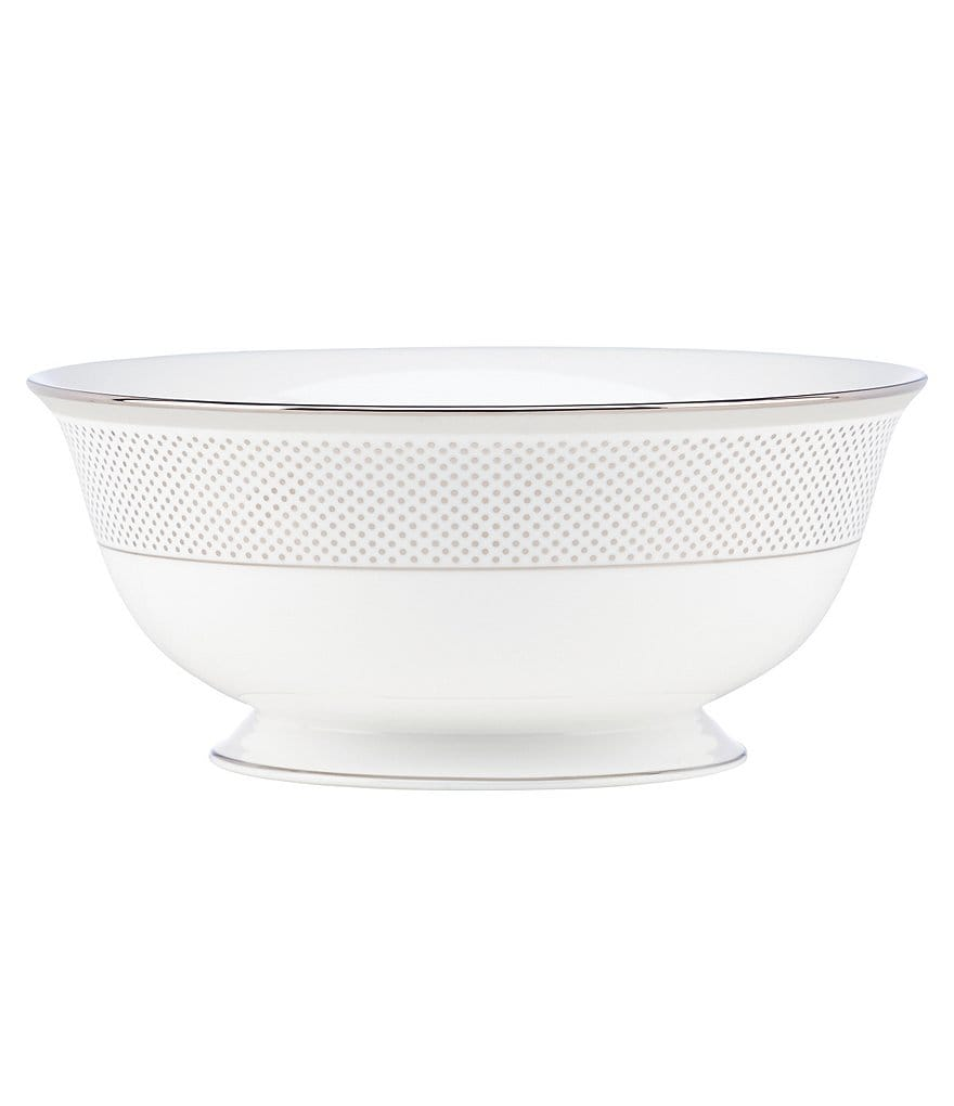 kate spade new york Whitaker Street Dotted & Striped Platinum Bone China Serving Bowl