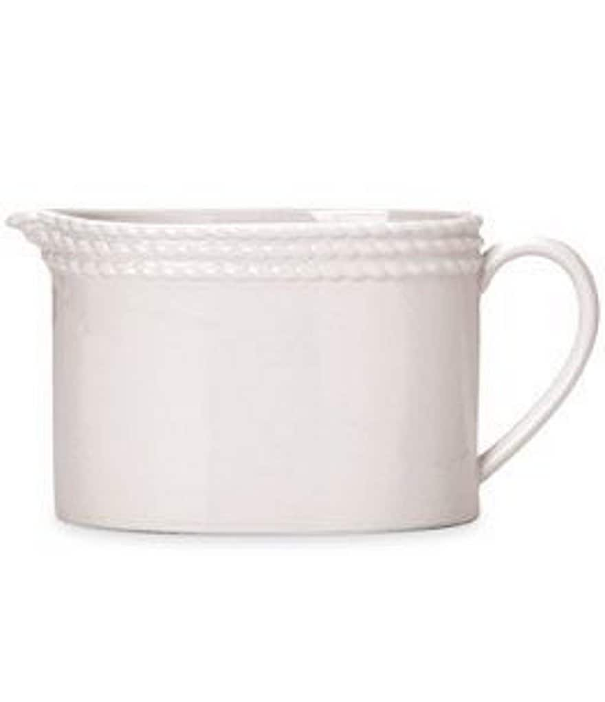 kate spade new york Wickford Rope-Embossed Porcelain Creamer