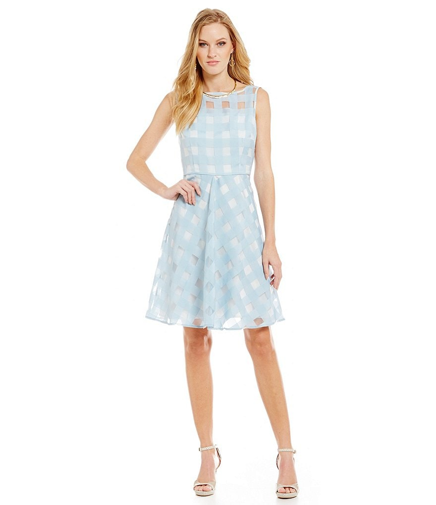 Katherine Kelly Grace Gingham Organza Dress