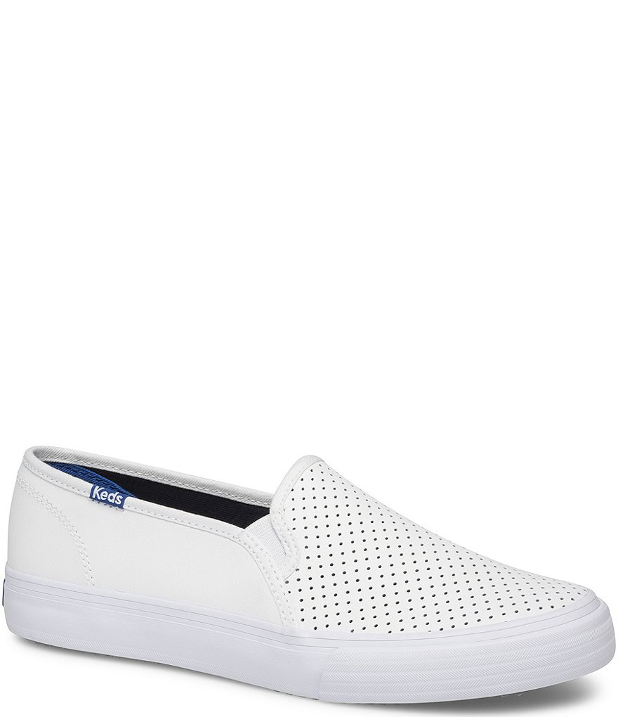 Keds Double Decker Perforated Leather