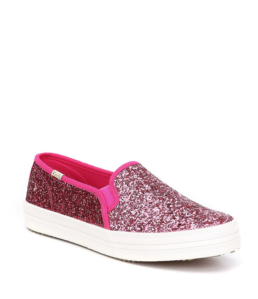 keds x kate spade new york Double Decker Colorblock Glitter Slip-On Sneakers