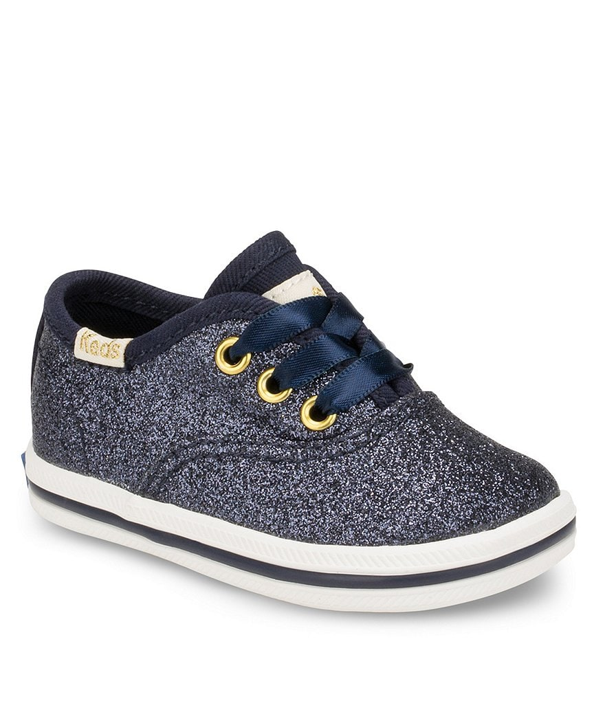 Keds for kate spade new york Girls' Glitter Crib Shoe Sneakers