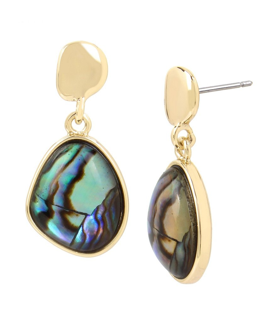 Kenneth Cole New York Abalone Drop Earrings