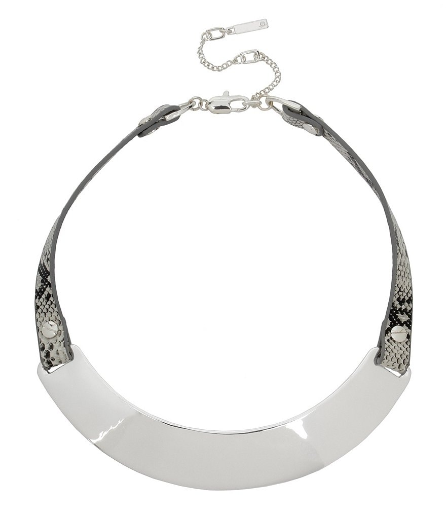 Kenneth Cole New York Leather Collar Necklace