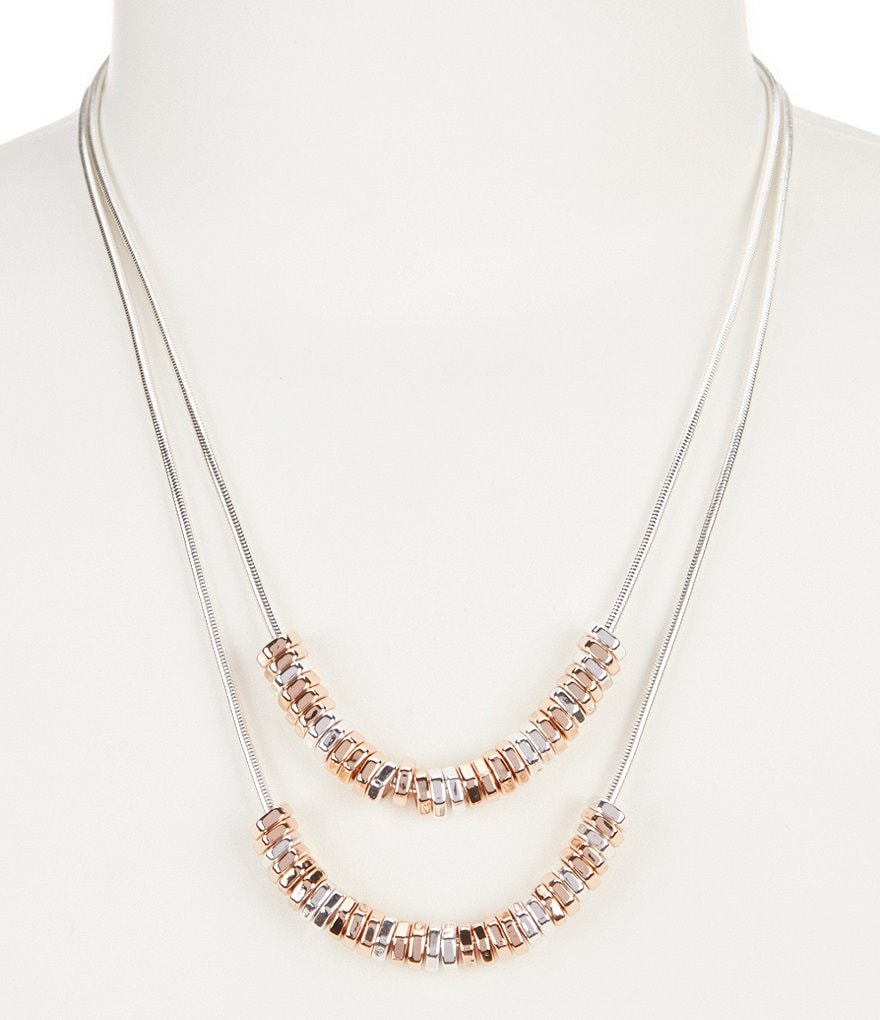 Kenneth Cole New York Geometric Beaded Multi-Strand Necklace