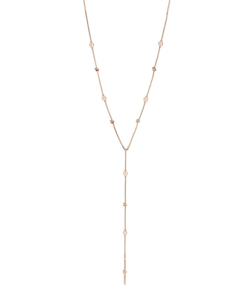 Kenneth Cole New York Knot and Pearl Y-Necklace