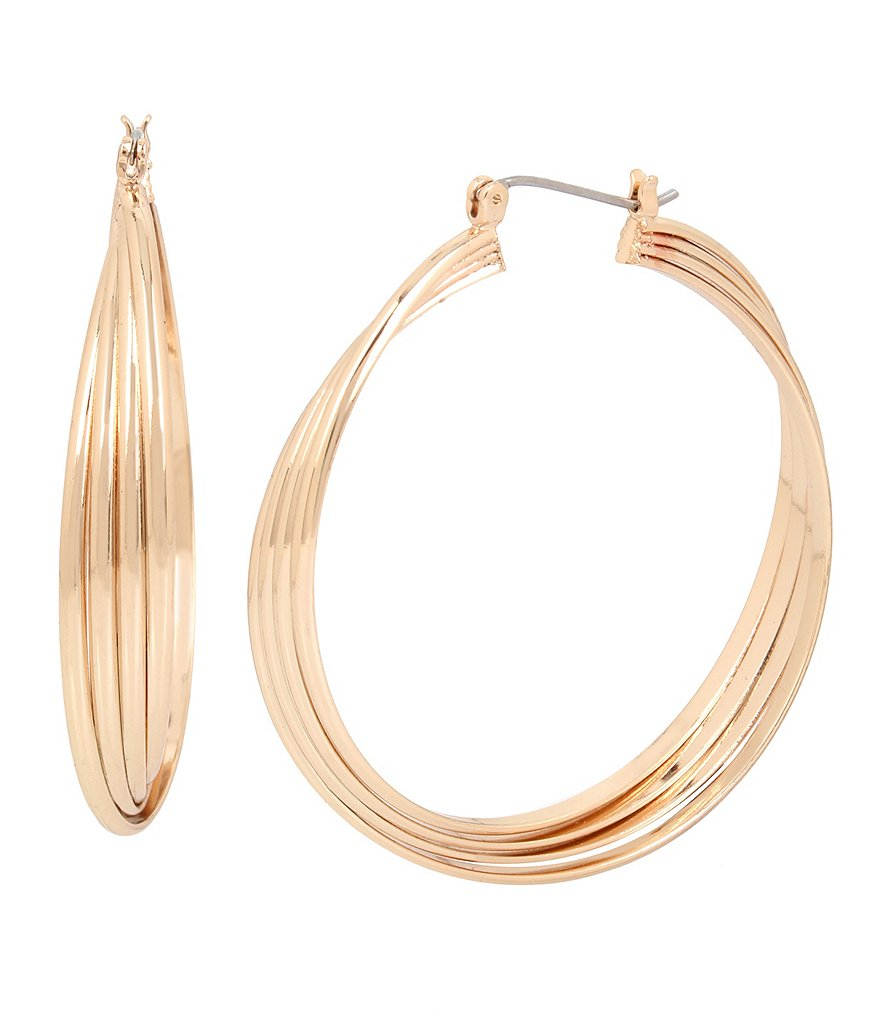Kenneth Cole New York Large Twisted Hoop Earrings