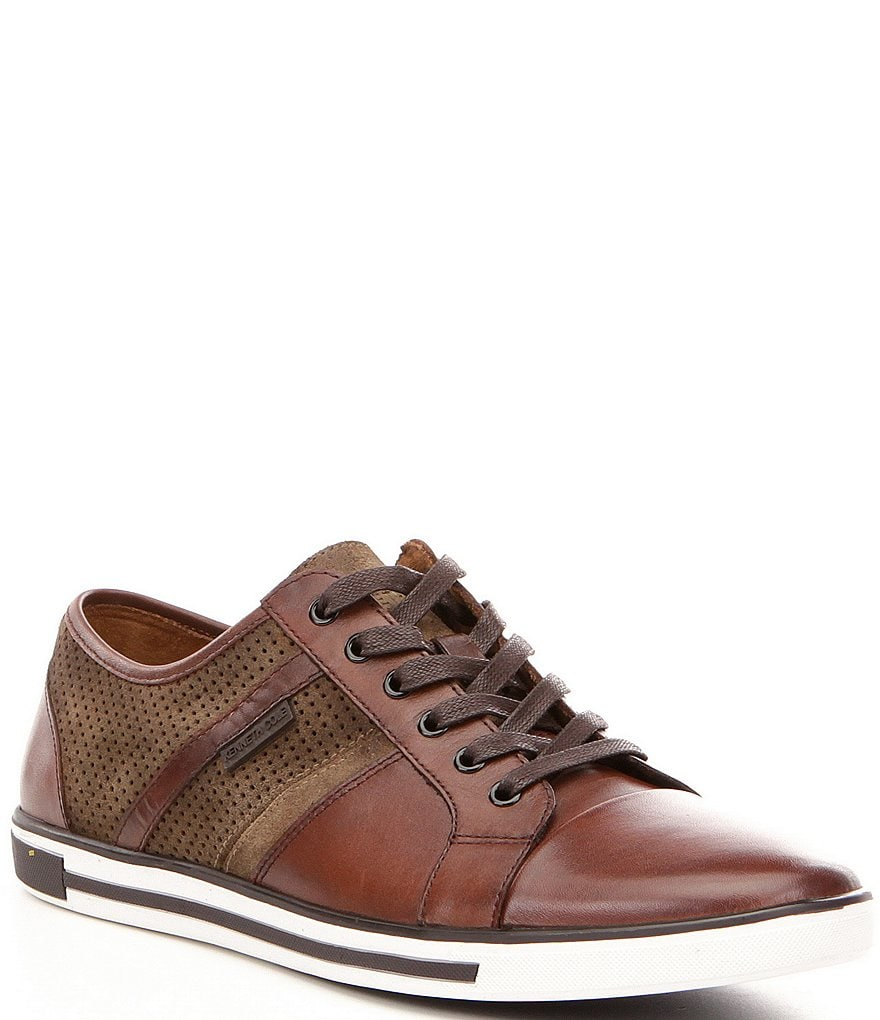 Kenneth Cole New York Men's Initial Step Suede and Leather Cap Toe Sneakers