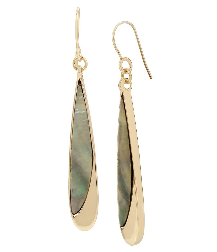 Kenneth Cole New York Mother-of-Pearl Linear Drop Earrings