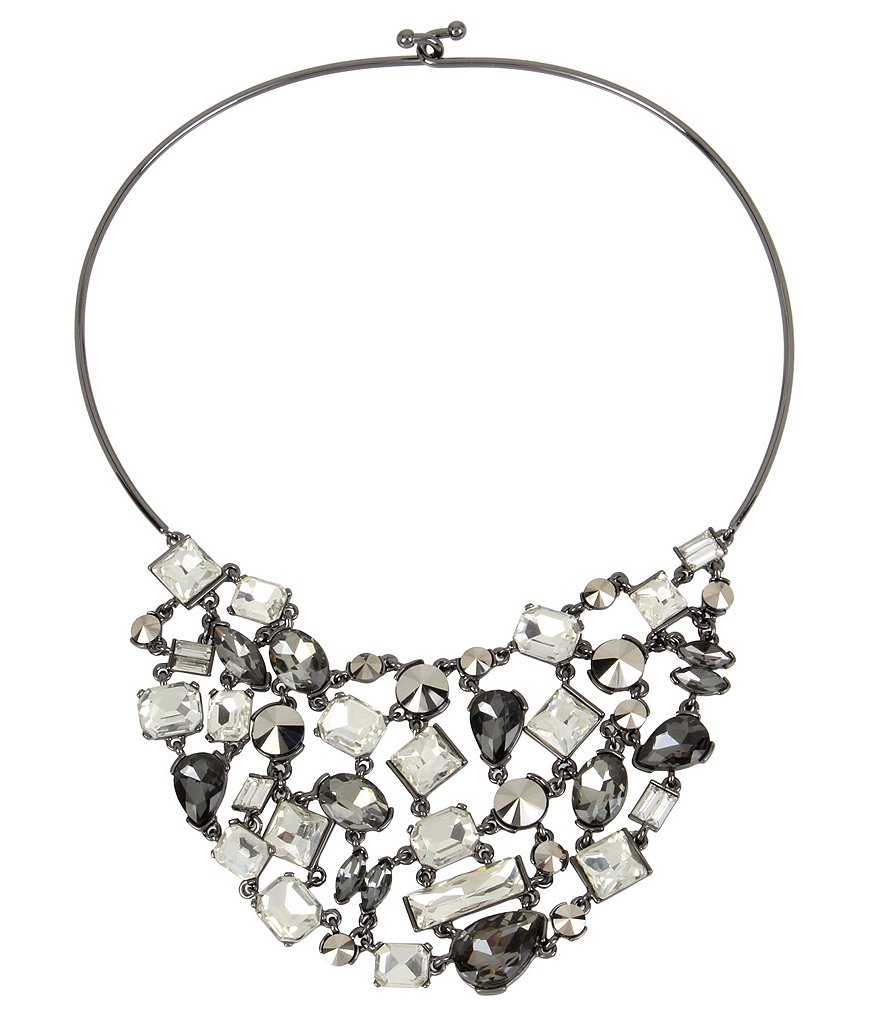 Kenneth Cole New York Stone Wire Statement Collar Necklace