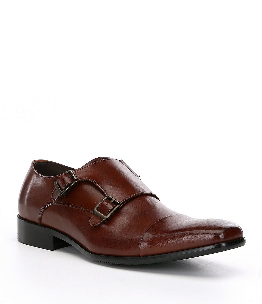 Kenneth Cole Reaction Men's Design 20724 Cap Toe Double Monk Strap Shoes