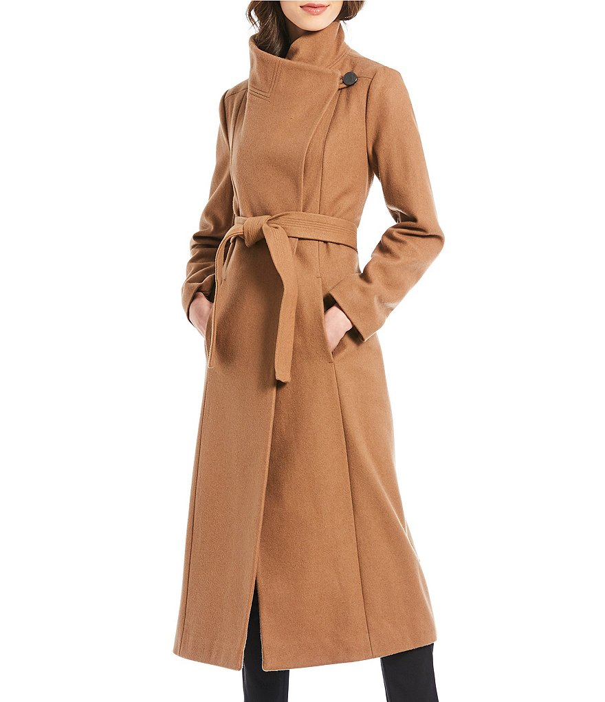Kenneth Cole Reaction Wool Blend Maxi Wrap Coat