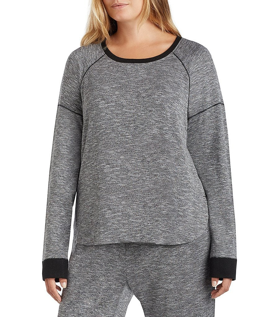 Kensie Plus Marbled Knit Sleep Top